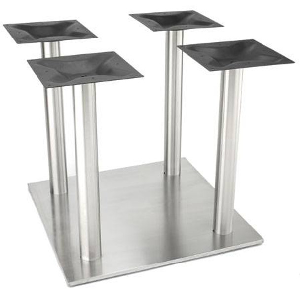 Stainless Steel Four Column Table Base