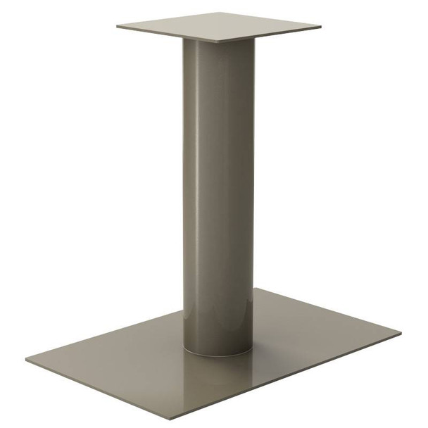 "Low Profile 6"" Diameter Rectangle Table Base"