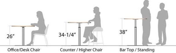 Height Adjustable Pedestal Base