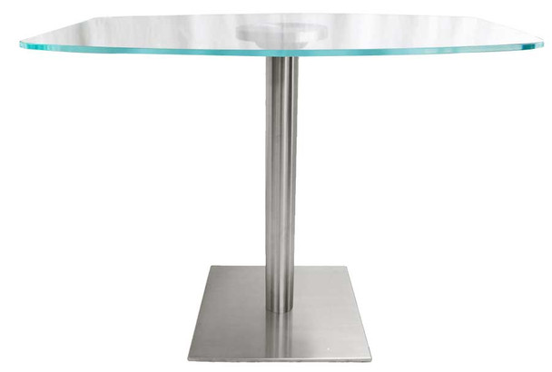 Quadrato Stainless Steel Base for Glass Tops