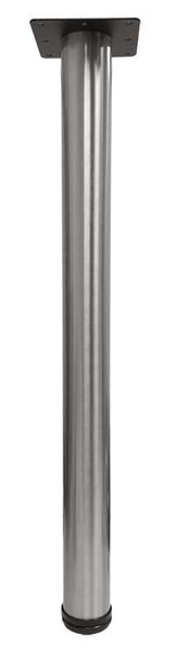"28"" Tall Stainless Steel Leg, 2-3/8"" Dia."