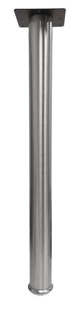 "28"" Tall Stainless Steel Leg, 2-3/8"" Dia."