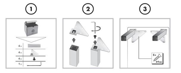 """2"""" Square Furniture Legs - Set of Four"""