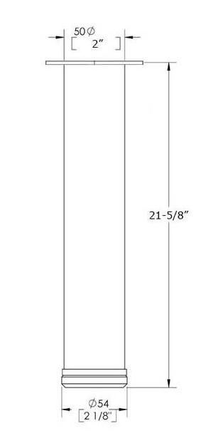 """21-5/8"""" Adjustable Coffee Leg"""