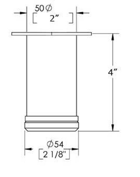 """4"""" tall, Adjustable Furniture Leg"""