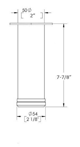 "7-7/8"" Adjustable Furniture Leg"