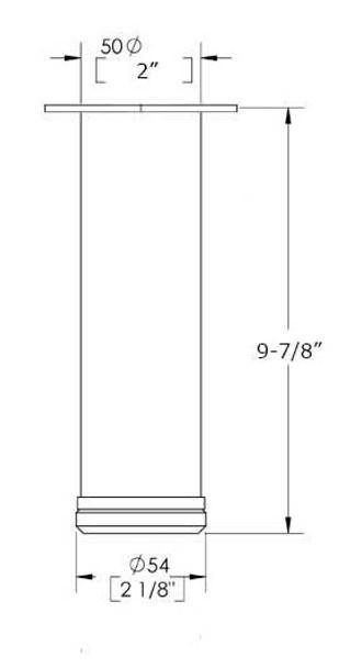 """9-7/8"""" Adjustable Furniture Leg"""