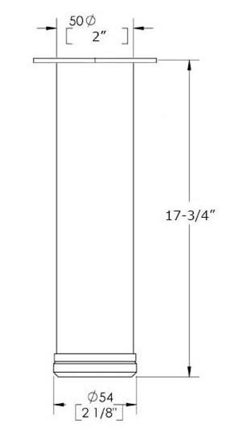 """17-3/4"""" Adjustable Coffee Leg"""