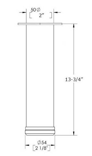 """13-3/4"""" Adjustable Coffee Leg"""