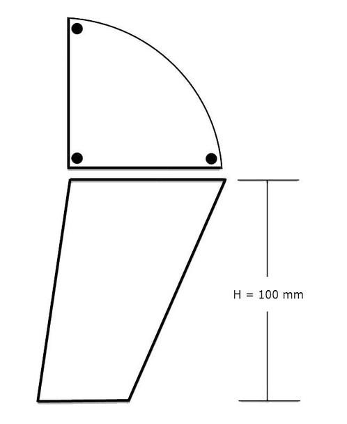 """4"""" Decorative Triangle Leg"""