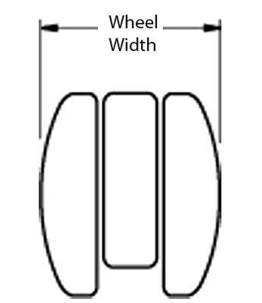 Large Twin Wheel Caster With Brake