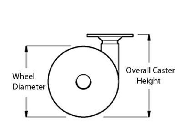 Large Twin Wheel Caster - F6057