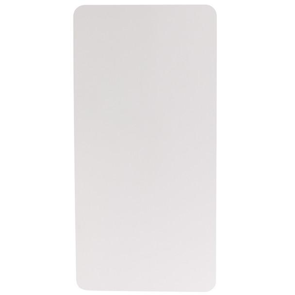 "30""W x 60""L Granite White Plastic Folding Table"