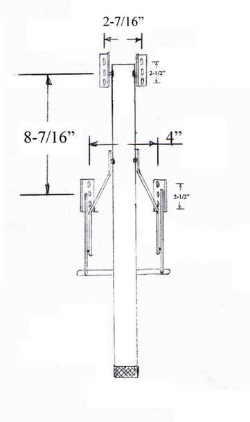 "29-1/4"" Single Folding Table Leg"