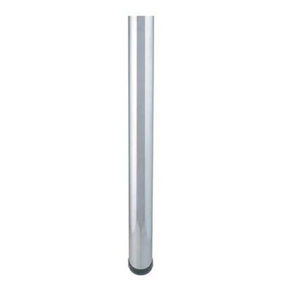 "Bar height table legs 40-1/4"" x 3-1/8"" dia., brushed steel (satin chrome)"