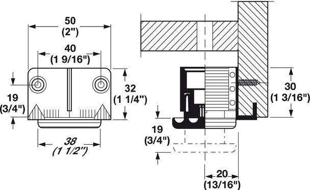 """1-1/2"""" diameter Base Leveler"""