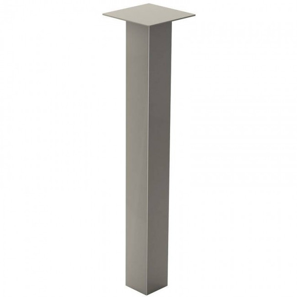 """27-3/4"""" tall, 2"""" wide, Square Post Table Leg, Brushed Chrome (Single)"""