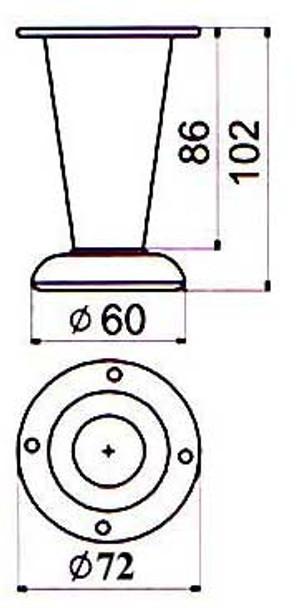 "4"" Funnel - Sloped Foot"