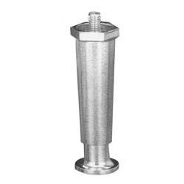 "4"" Nickel Plated Appliance Leg - Flange Foot"