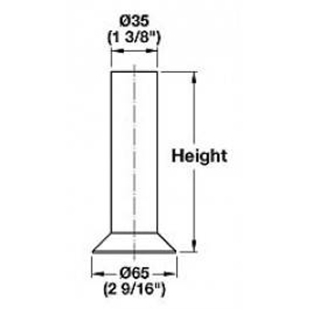 "6-1/2"" tall Angled Foot"