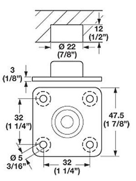 Square Mounting Plate