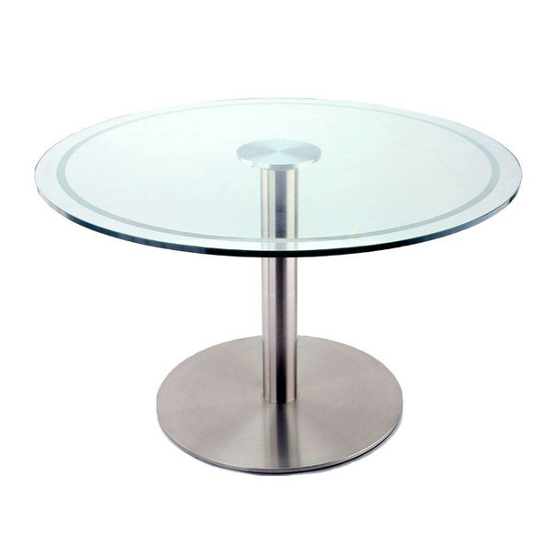 Large Glass Top Adapter for Stainless Table Base