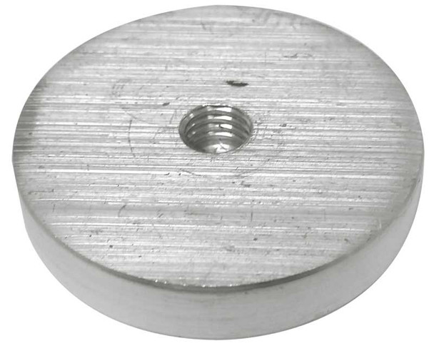 """55 mm (2.17"""") Aluminum glass adapter with M10 x 2"""" threaded rod"""