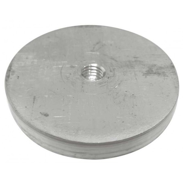 """65mm (2.9/16"""") Aluminum glass adapter with M10 x 2"""" threaded rod"""