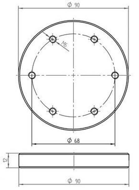 Bar Console Glass Adapter