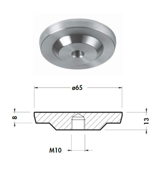 Single Stainless Steel Glass Adapter