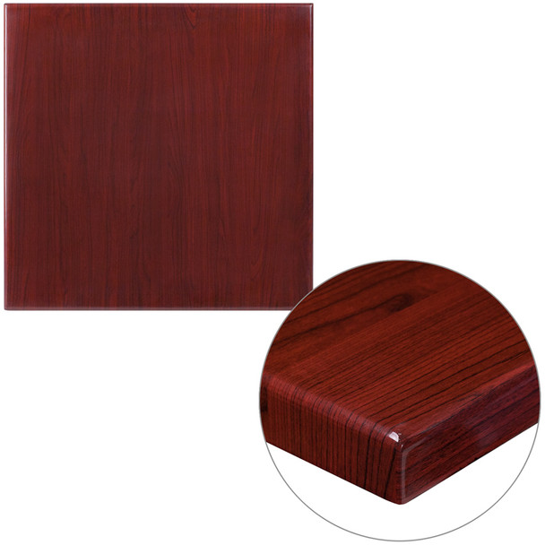 """Resin Table Top - Square with 2"""" Thick Drop-Lip"""