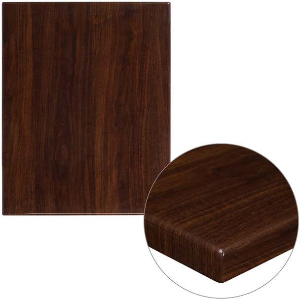 "Rectangular High-Gloss Resin Table Top - with 2"" Thick Drop-Lip"