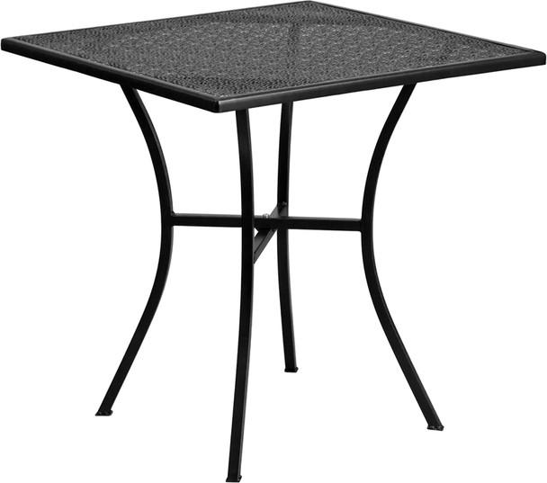 Square Indoor-Outdoor Steel Patio Table