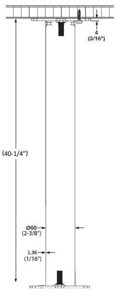 "40-1/4"" Floor Mount Bolt Leg"