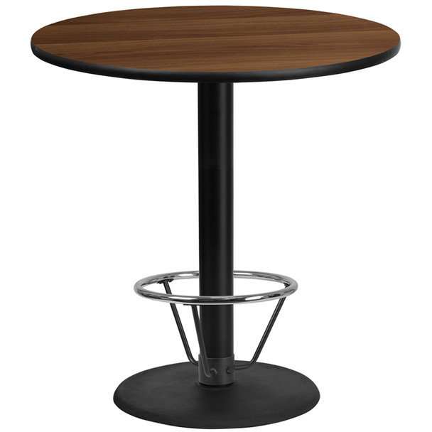 Round Laminate Table Top with Round Table Base