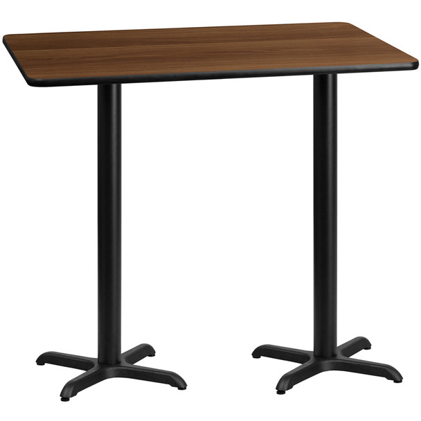 Rectangular Laminate Table Top with X-Shaped Table Bases - CR9024
