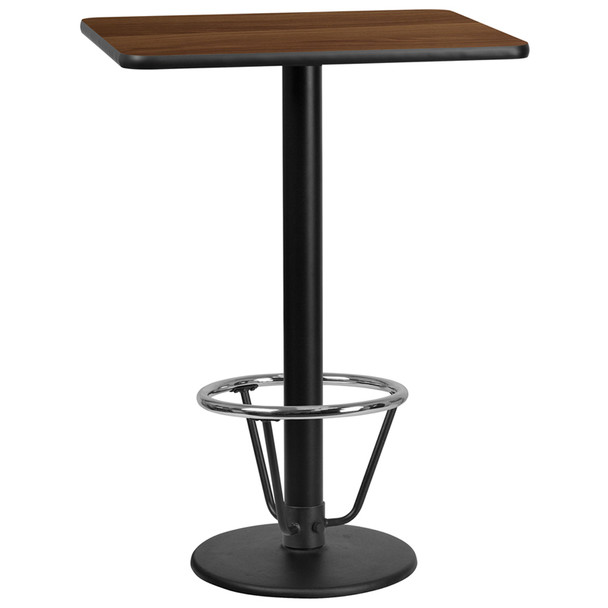 Rectangular Laminate Table Top with Round Table Base - CR9030