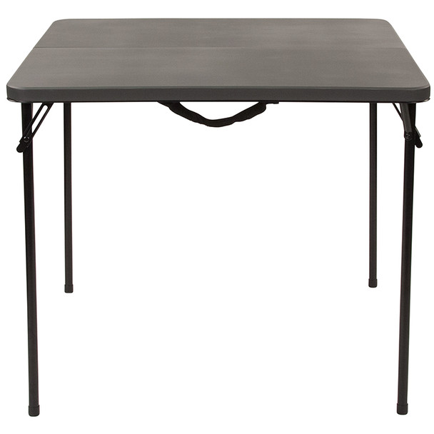 Square Bi-Fold Plastic Folding Table with Carrying Handle