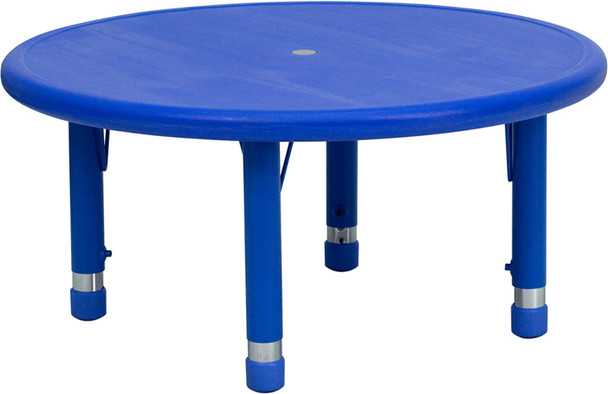 Round Plastic Height Adjustable Activity Table