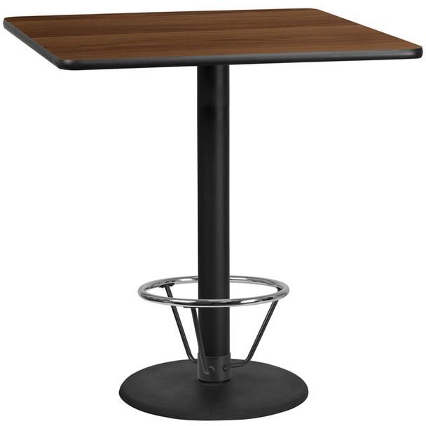 Square Laminate Table Top with Round Base