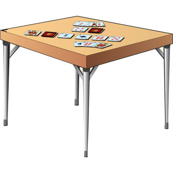 Folding Game Table Legs, Set of Four