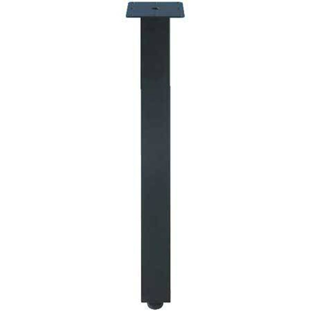 "2-3/8"" Square Leg - Set of (4), Black"