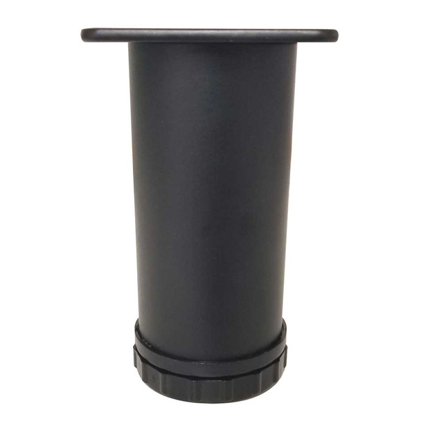"""4-1/2"""" Tall Adjustable Furniture Leg - Black"""