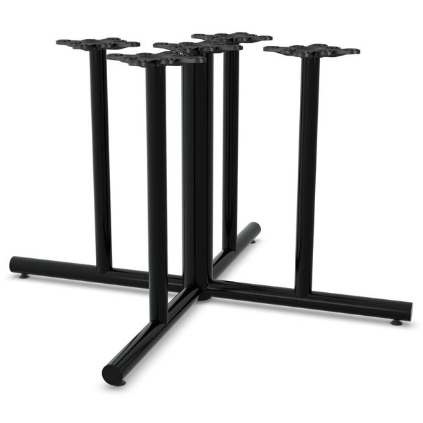 5 Column X-Shaped Table Base
