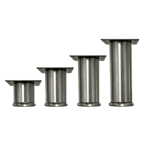 """3"""" Dia. Stainless Steel Furniture Leg with Foot-776"""