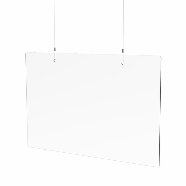 """24"""" x 36"""" x 3/16"""" Spartan Hanging Shield with Hardware"""