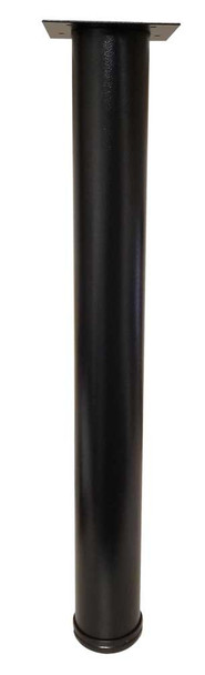 "27-3/4"" x 3-1/8"" Desk Height Leg - Black Textured"