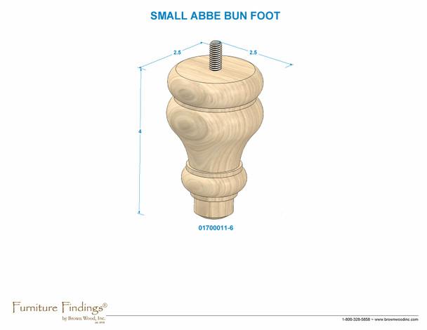 Abbe Bun Foot with Hanger Bolt