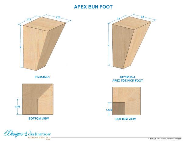 """4"""" Apex Bun Foot"""