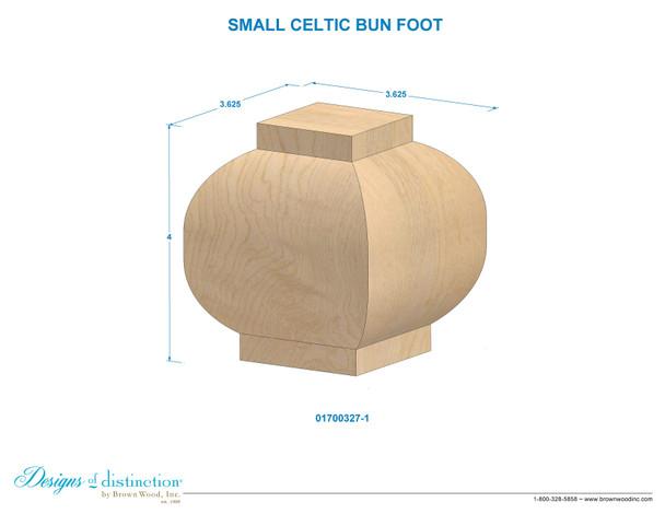 """4"""" Celtic Bun Foot"""